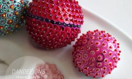 Como fazer bolas de Natal de isopor