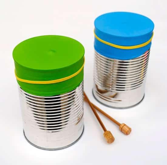 brinquedos reciclados instrumentos musicais