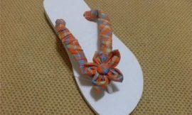Como fazer artesanato em sandálias havaianas