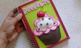 Caderno de Receita para Dia das Mães Passo a Passo