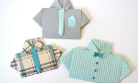 Como Fazer Cartão em Forma de Camisa para Dia dos Pais