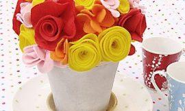 Como Fazer Arranjo Floral de Feltro