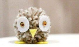 Como Fazer Coruja de Lã
