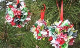 Como Fazer Bolinhas de Natal de Tecido