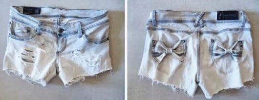 É muito fácil fazer uma calça virar um short customizado (Foto: Divulgação)