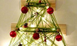 Como Fazer Árvore de Natal com Lã