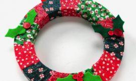Como Fazer Guirlanda de Natal com Tecido