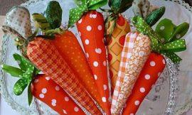 Como Fazer Cenoura de Tecido