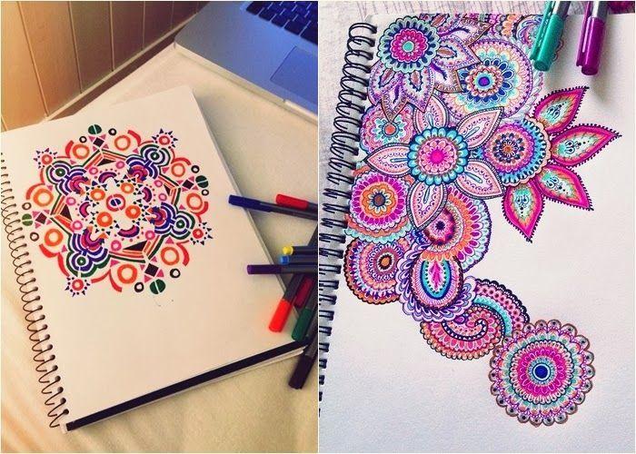 desenhos para fazer na capa do caderno