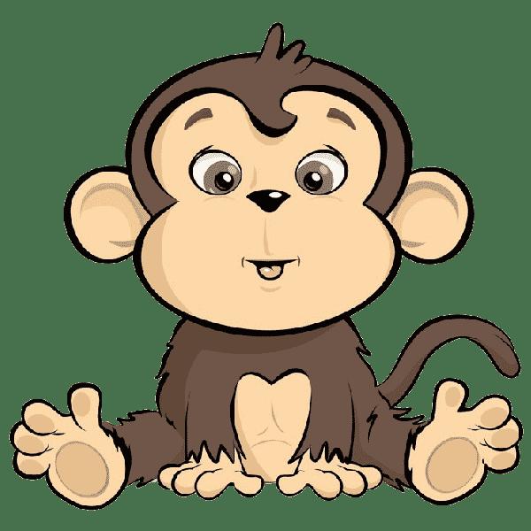 macaco colorido para caderno