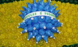 Como Fazer Bandeira do Brasil com Material Reciclável