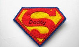 Como Fazer Símbolo Super Pai com Molde