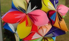 Flor Bola de Origami Passo a Passo