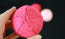 Como Fazer Esferas de Feltro
