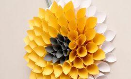 Como Fazer um Quadro de Flores de Papel