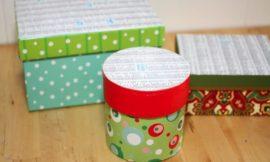 Como Reciclar Caixas de Natal