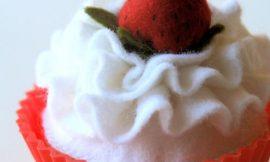 Como Fazer Cupcake de Feltro