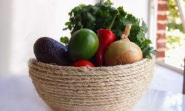 Como Fazer uma Fruteira com Tigela e Corda