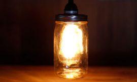 Como Fazer uma Luminária com Pote de Vidro