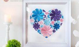 Como Fazer um Coração com Flores de Papel