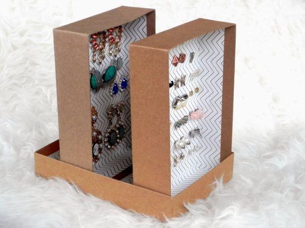 Read more about the article Como Fazer um Porta-Brincos com Caixa de Sapato