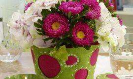 Como Decorar Vaso de Flores com Feltro