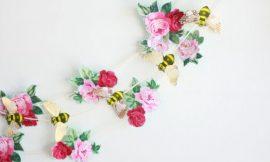 Como Fazer Decoração para Parede com Flores de Papel