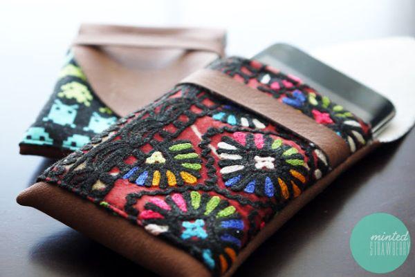 Esta capa de couro para celular tem modelo diferenciado e muito estilo (Foto: mintedstrawberry.blogspot.com.br)