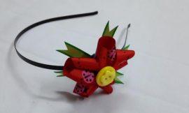 Como Fazer Arquinho com Flor de Fita