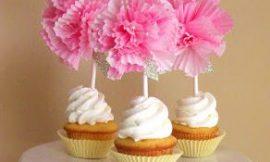 Como Fazer Flor de Papel para Cupcake