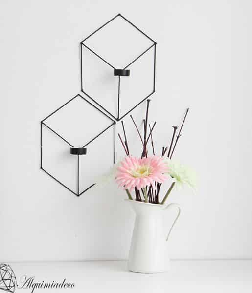 Este porta-velas de parede é diferente e repagina instantaneamente a sua decoração (Foto: handbox.es)