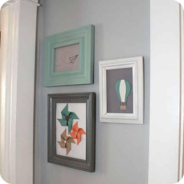 Quadro com catavento de feltro pode frequentar qualquer ambiente de sua casa (Foto: littleloveliesbyallison.com)
