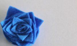 Como Fazer Flor de Feltro Quadrada
