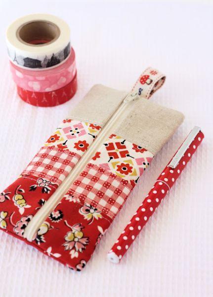 Estojo de retalhos é lindo e sustentável (Foto: aspoonfulofsugardesigns.com)