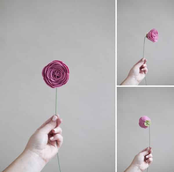 Faça flor de feltro fácil de fazer para ter também um lúdico passatempo (Foto: somethingturquoise.com)