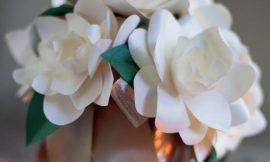 Como Fazer Flores de Papel para Centro de Mesa