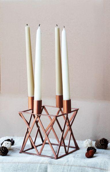 Este candelabro artesanal nem parece que foi feito com material tão barato (Foto: wellmadeheart.com)