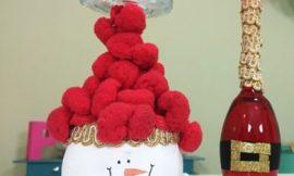 Como Fazer Porta-Velas de Natal com Taças