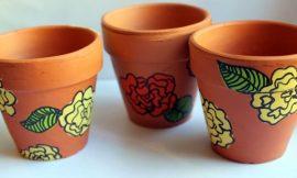 Como Fazer Pintura em Vasos de Barro