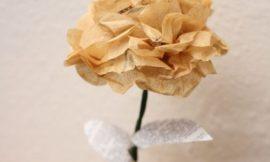Como Fazer Flores de Papel de Seda