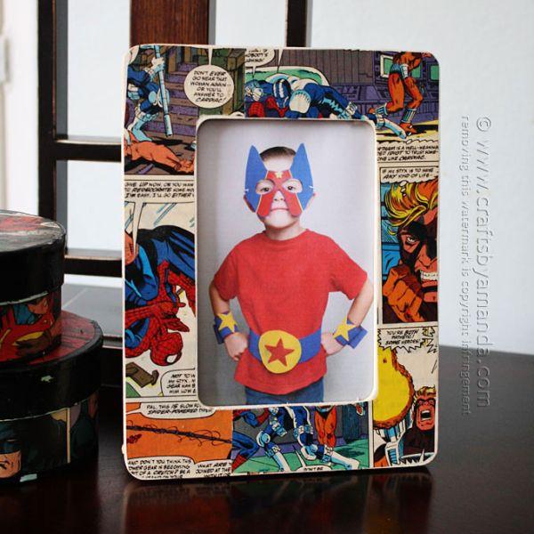 Porta-retrato divertido pode ter o tema que você quiser (Foto: craftsbyamanda.com)