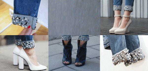 Personalizar barra de calça jeans é muito fácil e fica lindo (Foto: blog.mjtrim.com)