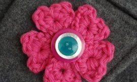 Como Fazer Broche de Flor de Crochê