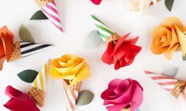 Como Fazer Cone com Flor