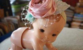 Enfeite de Cabelo para Bebê com Flores