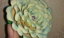 Como Fazer uma Rosa de EVA