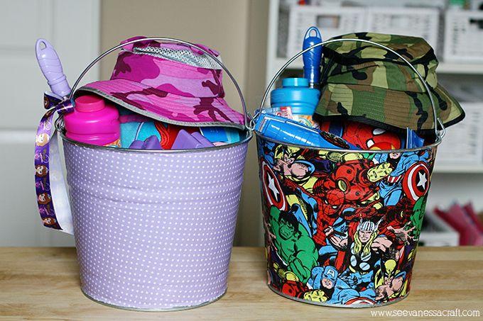 Personalizar baldinho de metal é muito fácil (Foto: seevanessacraft.com)