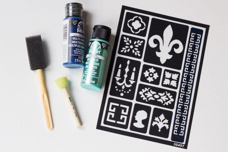 Aprenda como Decorar Vaso de Barro com Stencil