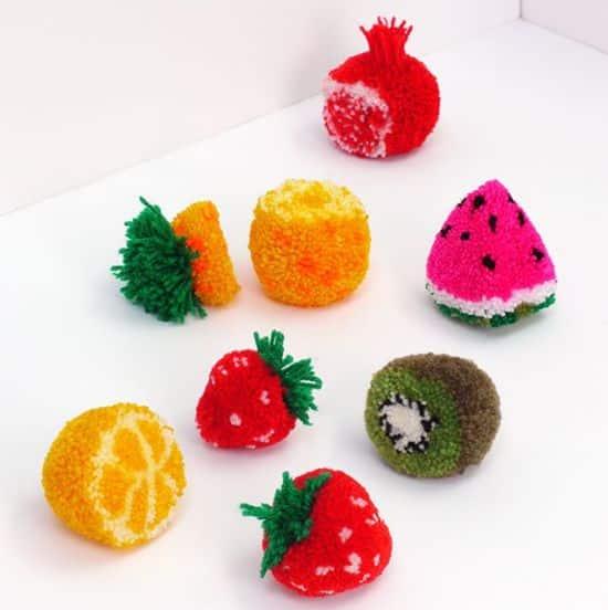 You are currently viewing Como Fazer Frutinhas de Pompom Passo a Passo