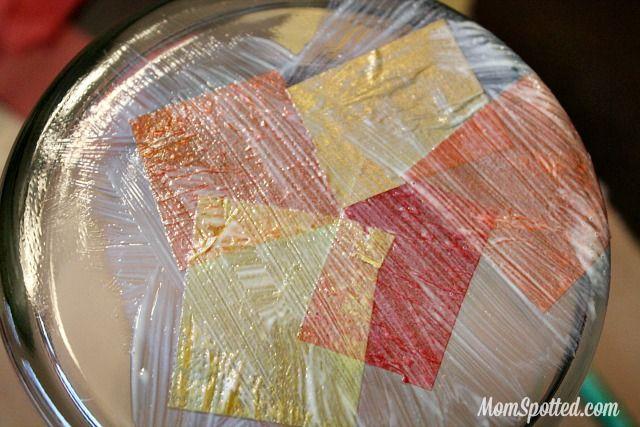 Mosaico em Pote De Vidro